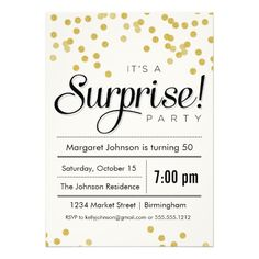 Shhh Red Polka Dot Surprise Birthday Party Invitations iPad