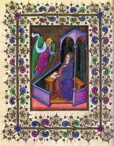 LF33v of the Visconti Hours - Hours of Gian Galeazzo Visconti - Wikipedia, the free encyclopedia