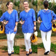 blog v@ LOOKS | por leila diniz: FINALMENTE minha 1ª roupa com esse tom de azul lin...