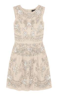 etch lace embellished mini dress