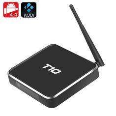 T10 Android TV Box - Amlogic Quad Core CPU GPU Mali450 Android 4.4 Kodi Airplay DLNA Miracast