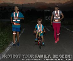 Safety Vest. The braking distance of a car going 50 mph is roughly 175 feet. The visibility of a person at night wearing black clothes is 60 feet, reflective running vest 1000 feet. Reflective vests, on your body, provides the driver with ample amount of time to see the walkers, cyclists or runners, slow down, and change lanes in order to avoid a collision.