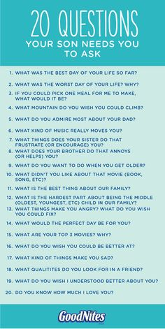 As a parent, you know how important it is to communicate with your child. Inspire meaningful conversations with this list of 20 questions to ask your child. If your kid wets the bed at night, you could even consider asking him how his nighttime wetness ma Kids And Parenting, Parenting Hacks, Mindful Parenting, Parenting Articles, Gentle Parenting, Teaching Kids, Kids Learning, Raising Boys, Raising Daughters