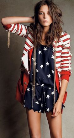 70fdf6d6184 TOP 10 USA Flag inspired outfits Daria Werbowy