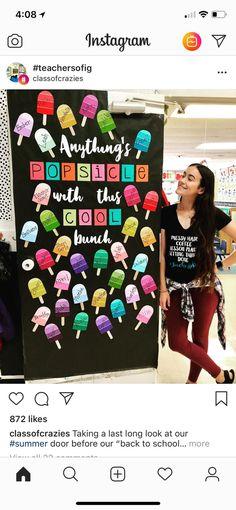 New Classroom Door Displays Math Ideas Summer Bulletin Boards, Back To School Bulletin Boards, Preschool Bulletin Boards, Classroom Board, Classroom Bulletin Boards, Classroom Displays, Classroom Setting, Classroom Organization, Future Classroom
