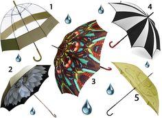 April Showers: Stay Dry with Five of the Best Fashion Umbrellas