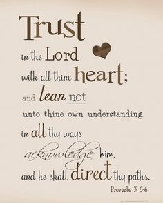 Legally Leslie: Proverbs 3:5-6
