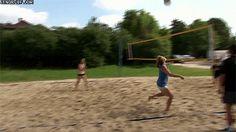 Chute de volley ball