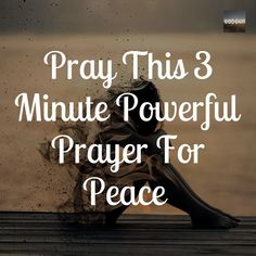 Does it feel like your life is void from peace. From the time you wake to the time you go to bed. no peace. Here is a powerful 3 minute prayer that you can pray for your inner peace. Prayer For Peace, Prayer For You, God Prayer, Power Of Prayer, Morning Prayer Quotes, Morning Greetings Quotes, Prayer Scriptures, Bible Verses Quotes, Wisdom Scripture