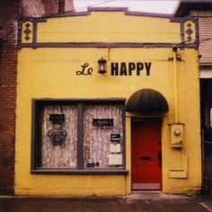 Le Happy in Portland. Melanie and I love this crepe place! :)