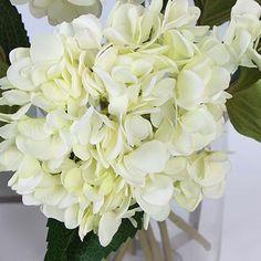 70 best artificial flowers hydrangea images on pinterest silk hydrangea stem in white 18 mightylinksfo