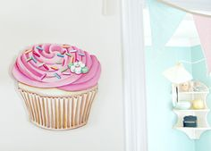 Everyday is a Holiday: Fresh from the oven...I mean studio #cupcake #pink # decor #home #sign #decoration #jennyholiday