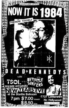 GigPosters.com - Dead Kennedys - T.S.O.L. - Butthole Surfers