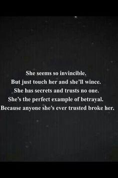 she seems so invincible..
