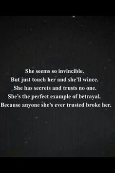 she seems so invincible..