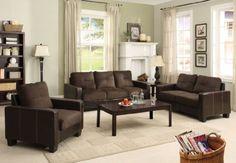 Furniture of America Nappa 3-Piece Microfiber Sofa Set, Chocolate & Espresso, http://www.amazon.com/dp/B009C5VAOE/ref=cm_sw_r_pi_awdm_ukClvb0DMXWEW