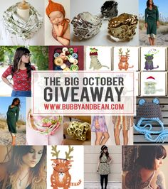 One of my favorite blogs!  The Bubby and Bean Big October Giveaway // Win a $430 Prize Package!