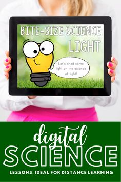 Bite-Size Science is perfect for distance learning or remote learning. A paperless, no-prep, narrated version of this lesson has been added, so even the youngest students can learn independently. Send the files home via your chosen platform (Google Classroom, SeeSaw, etc). This lesson focuses on light. Science Lessons, Teaching Science, Science Labs, Science Ideas, Science Classroom, Science Education, Earth Science, Science Experiments, Kids Education