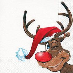 Servietten Rudolph / Rentier / Winter / Weihnachten