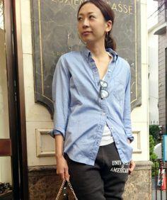 Deuxieme Classe(ドゥーズィーエムクラス)の◆コットンオックス ボタンダウンシャツ(シャツ・ブラウス) ブルー
