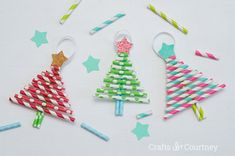 Christmas Kids Crafts Ideas and Inspiration to Create Your Life.by · on December 2017 · ·Christmas activities and crafts for kids. Simple kids crafts for pla Easy Christmas Ornaments, Christmas Tree Decorations, Christmas Tree Ornaments, Christmas Fun, Diy Ornaments, Christmas Activities, Homemade Ornaments, Christmas Child, Preschool Christmas
