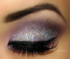 Viva Glitter eye makeup inspiration. See photo tutorial.