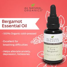 Bergamot is uplifting and balancing, helping to alleviate anxiety, depression, fear or listlessness and encourages a restful night's sleep.   #Bergamot #Balance #AuNaturalOrganics