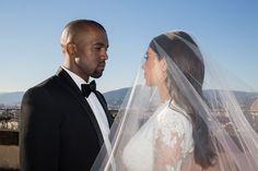 Kim Kardashian celebrates wedding anniversary with Kanye West dishing out unreleased wedding photos Kim Kardashian Kanye West, Kim And Kanye, Kardashian Jenner, Kim Kardashian Wedding, Kardashian Fashion, Brian Austin Green, Wedding Album, Wedding Photos, Wedding Wishes