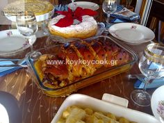 Greek Recipes, French Toast, Chicken Recipes, Goodies, Pork, Breakfast, Desserts, Sweet Like Candy, Kale Stir Fry