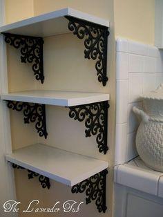Love the shelves for the bathroom