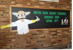Bulletin board for elementary school science fair.
