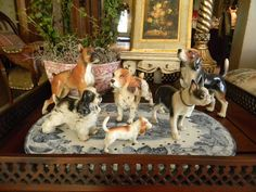 I love these vintage porcelain dogs - Nancy's Daily Dish