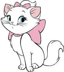Risultati immagini per gata marie Marie Aristocats, Disney Magazine, Marie Cat, Gata Marie, Disney Designs, Cat Birthday, Disney Tattoos, Coloring Book Pages, Disney Drawings