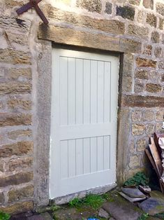 Farrow and Ball French Gray in Yorkshire Exterior Doors, Interior And Exterior, Grey Garage Doors, House Front Door, Front Door Colors, French Grey, Red Bricks, Farrow Ball, Paint Colors