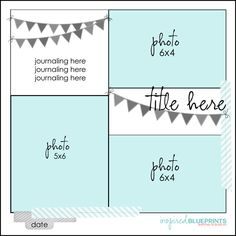 Just to Obsessed: Inspired Blueprints Scrapbook Sketches, Scrapbook Pages, Scrapbooking, Scrapbook Layouts, Photo Layouts, Inspired, Simple Sketches, Blog, Inspiration