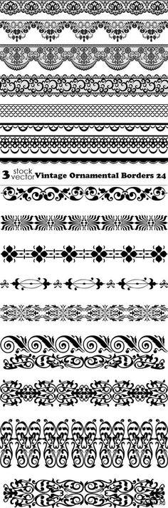 Vectors - Vintage Ornamental Borders 24