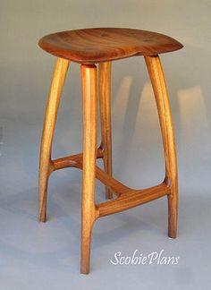 DIY - Woodwork Plans -  Bar stool - SCOBIE PLANS - furniture plans