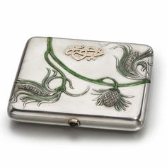 Fabergé Silver, Enamel and Diamond-Set Cigarette Case, Moscow, circa 1900