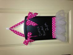 Ballerina chalkboard for a little girl's room