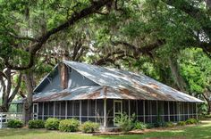1930's Florida farm house located on a former dairy farm that is now part of the Sunnyhill South Preservation Area near Weirsdale Florida.