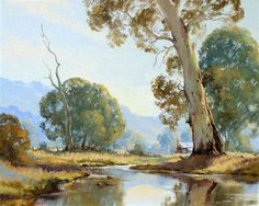 Paintings - Gerard Mutsaers - Page 2 - Australian Art Auction Records Watercolor Landscape, Landscape Art, Landscape Paintings, Watercolour, Australian Painting, Australian Artists, Graham Gercken, River Painting, Royal Art