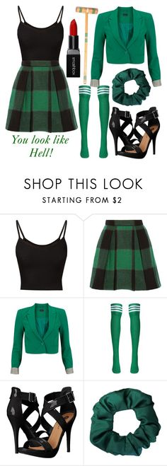"""Heather Duke Costume"" by amesqueda ❤ liked on Polyvore featuring Sea, New York, Vero Moda, Michael Antonio and Smashbox"