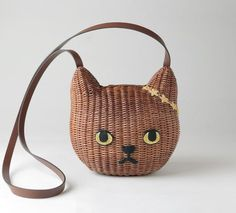 Rattan cat purse ~ from Keora Keora, Tokyo