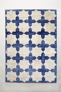 Checkered Stars Rug - anthropologie.com this would be great under table to cover the seriously flawed white vinyl floor