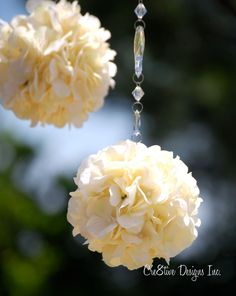 Hydrangea Flower Ball With Crystal Chain Set by Cre8tivedesigns4u