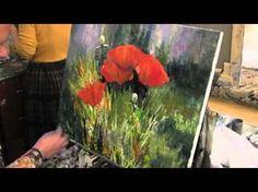 Пейзаж, пшеничное поле,Уроки для новичков живопись , Игорь Сахаров - YouTube