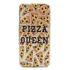 iPhone 6/6S Pizza Queen Case ($18) ❤ liked on Polyvore featuring accessories, tech accessories, phone case, iphone case, apple iphone cases and iphone cover case