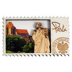 Fa mágnes Toruń. Mágnes fából készült bélyegző formájában a betűk. #torun #mágnes #hűtőmágnes Shape