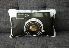 Printed Canvas Pillows Feature Vintage Camera Designs