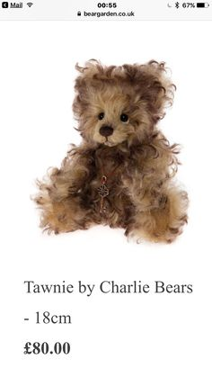 Dolls & Bears Good Tawnie ~ Stunning Mohair Bear By Charlie Bears ~ Limited Edition 1200!